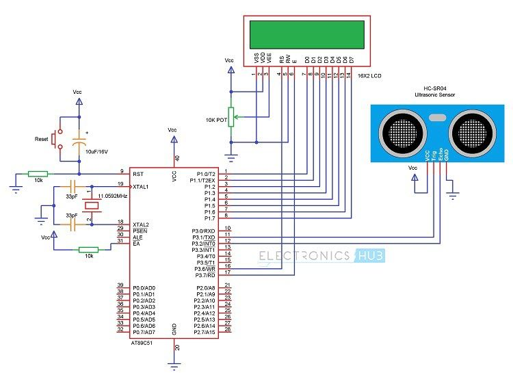 how to make ultrasonic rangefinder project using 8051ultrasonic rangefinder project using 8051 microcontroller