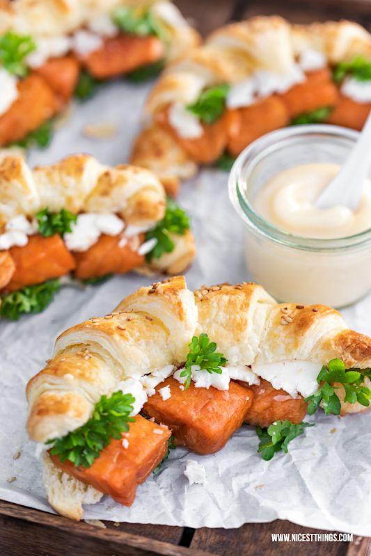Blätterteig Croissants mit Stremel Lachs zum Picknick - Nicest Things