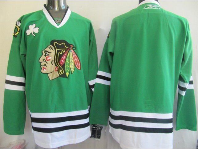 quality design edb42 0e1dc Chicago Blackhawks Green Jersey $19.99 | Full selection of ...