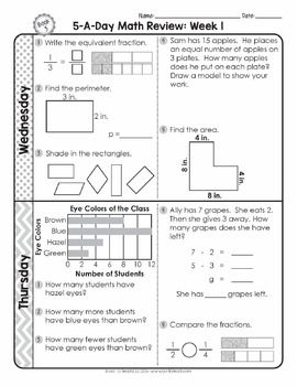 3rd Grade Daily Math Spiral Review Morning Work Editable Future