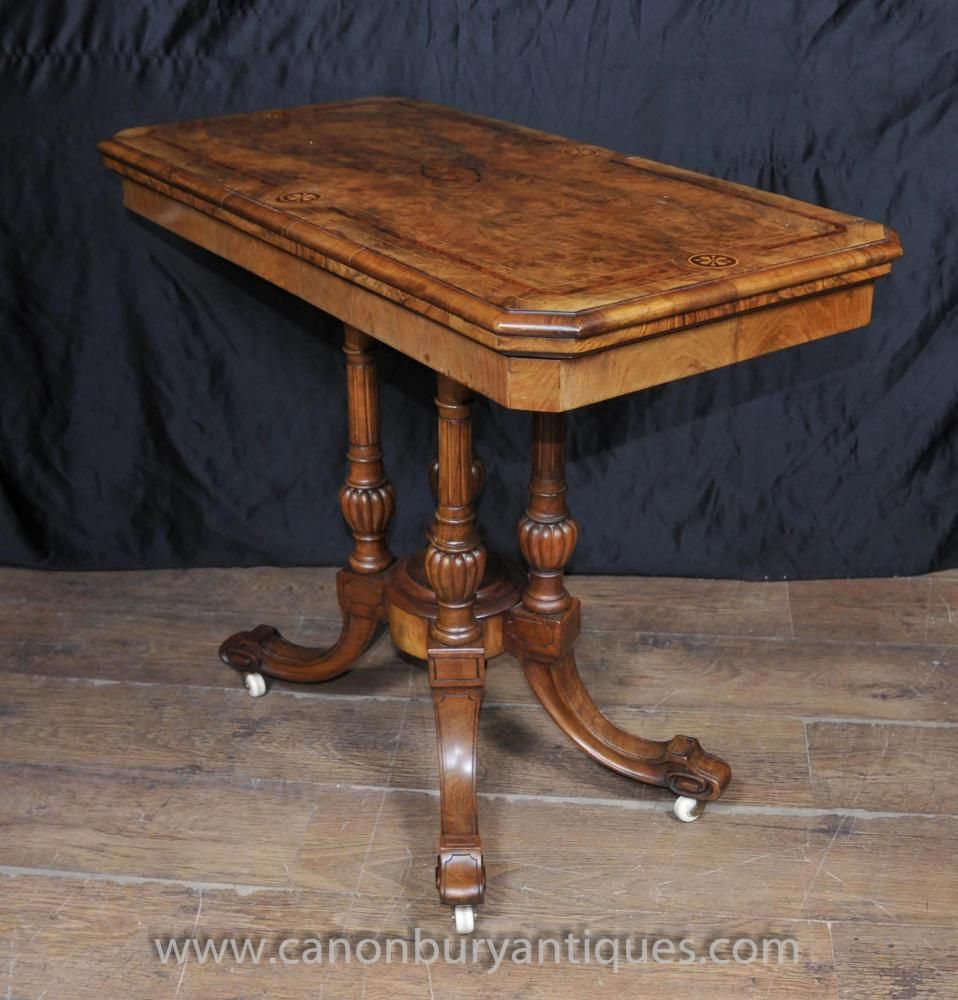 Antique Victorian Card Games Table In Walnut Side Tables Walnut Side Tables Card Game Table Table Games