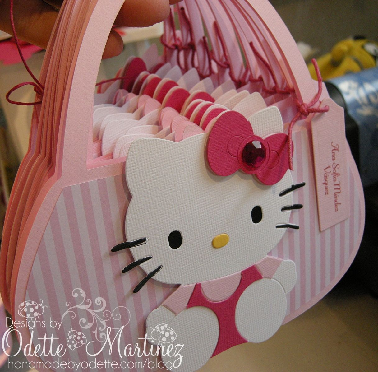 Cute Little Hello Kitty Bag Invite Adorable Cricut Ii Hello