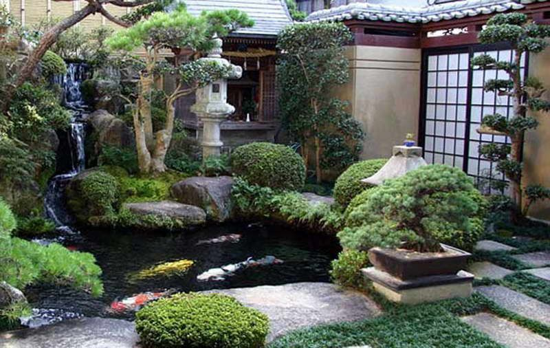 Backyard Japanese Garden Ideas With Waterfall Pool ...