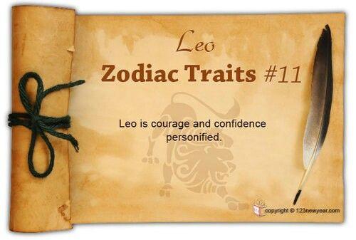 Leo Zodiac Trait #11
