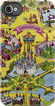 Vintage Walt Disney World Map Fantasyland 1971 By Tylersmith.... I Think  This