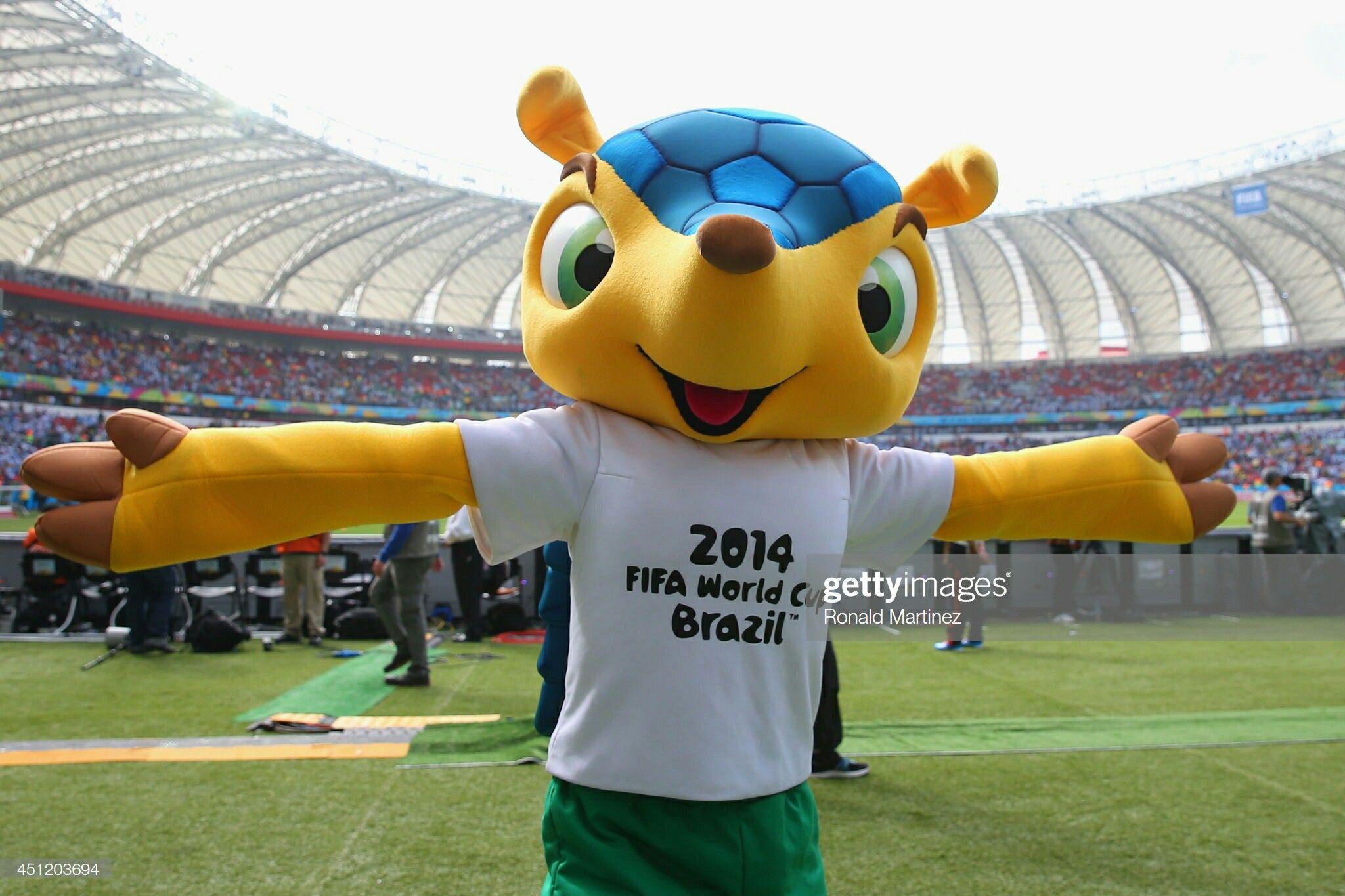 Fuleco In Estadio Beira Rio Fifa World Cup 2014 Mascot