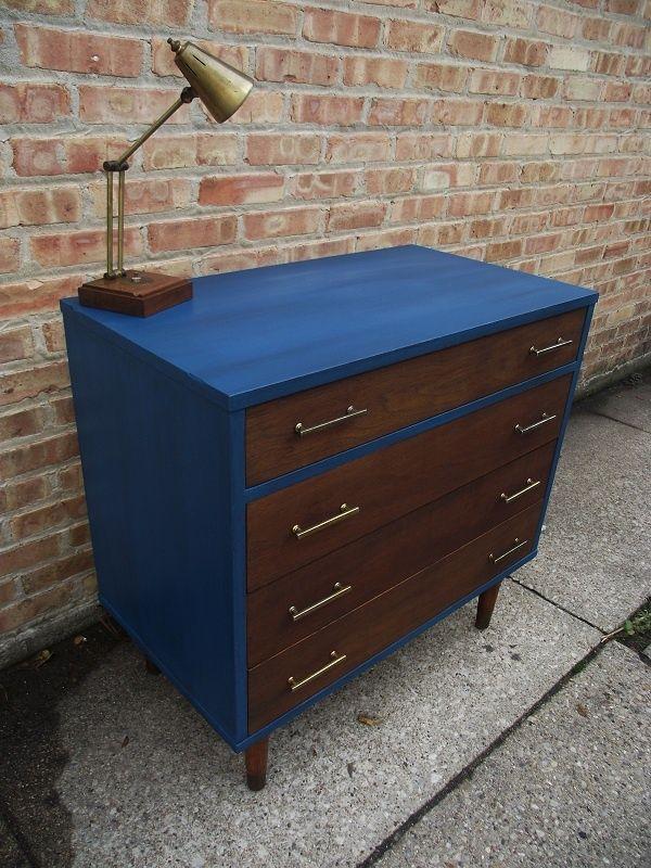 Blue Brown Dresser