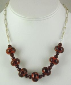 Brown Necklace. $50.