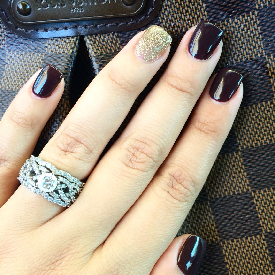 Obsessed with my Fall Nails overlay with CND Shellac | Nails ...
