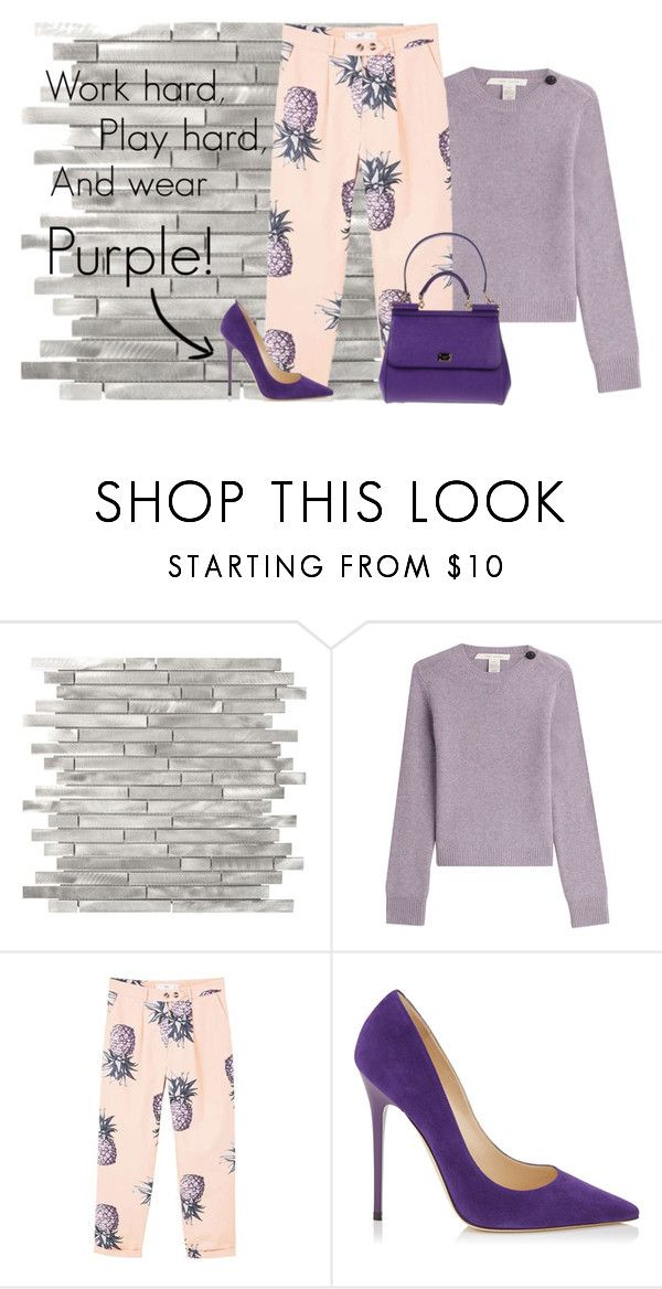 """Add some purple to your life"" by hessazemammi ❤ liked on Polyvore featuring Marc Jacobs, MANGO, Jimmy Choo and Dolce&Gabbana"