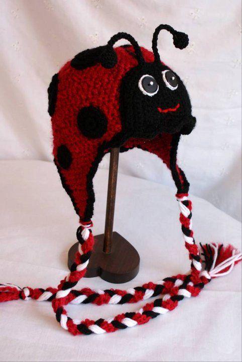 Ladybug crochet hat | Toucas de croche | Pinterest | Mütze, Hauben ...