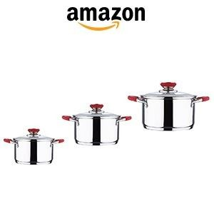 Wellberg Roma Casserole Set, 6-Pieces (4 handle colors available) at Rs.2025 Free Shipping – Amazon