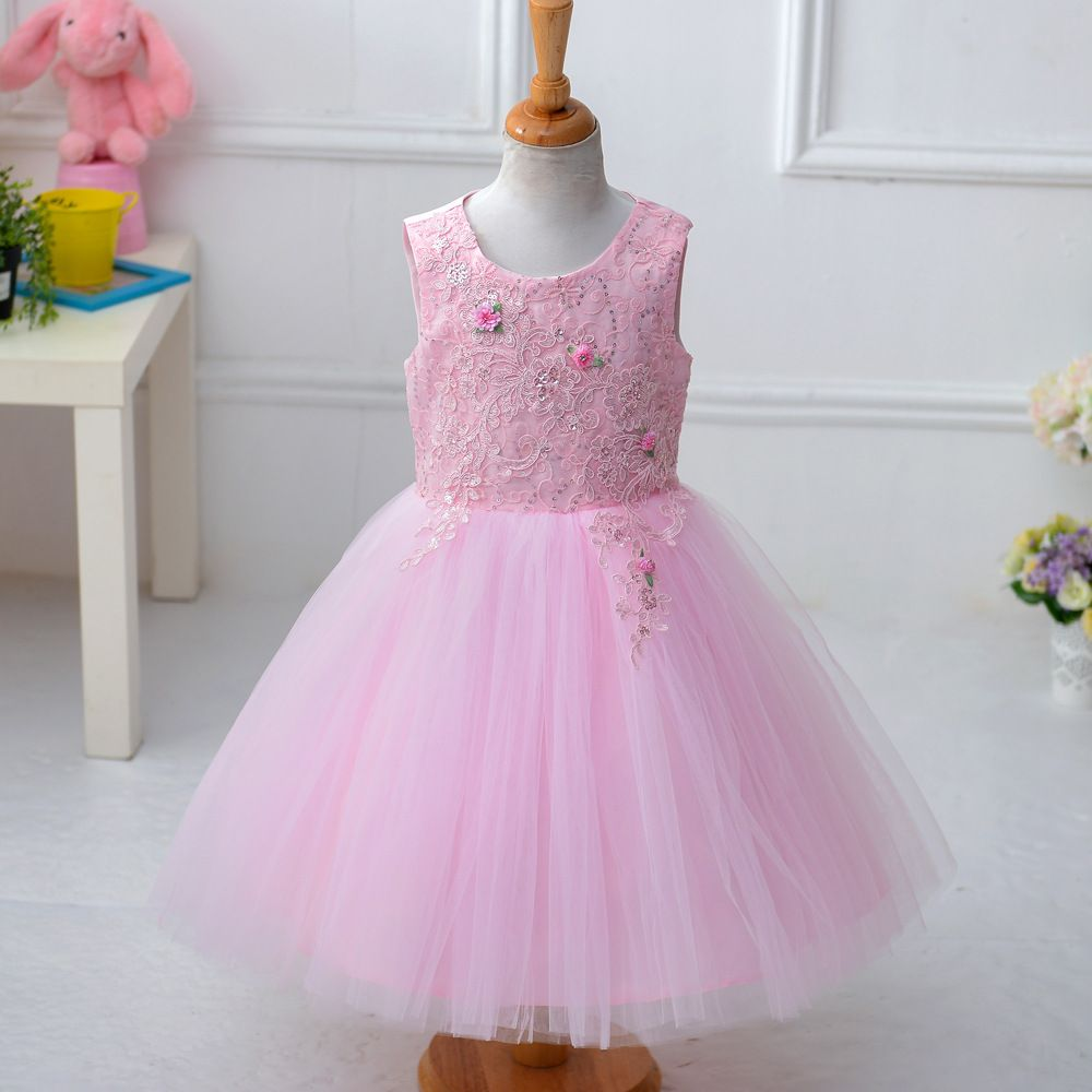 Fantasia Princess Kids Dress Embroidered tulle Girls Frocks Costume ...