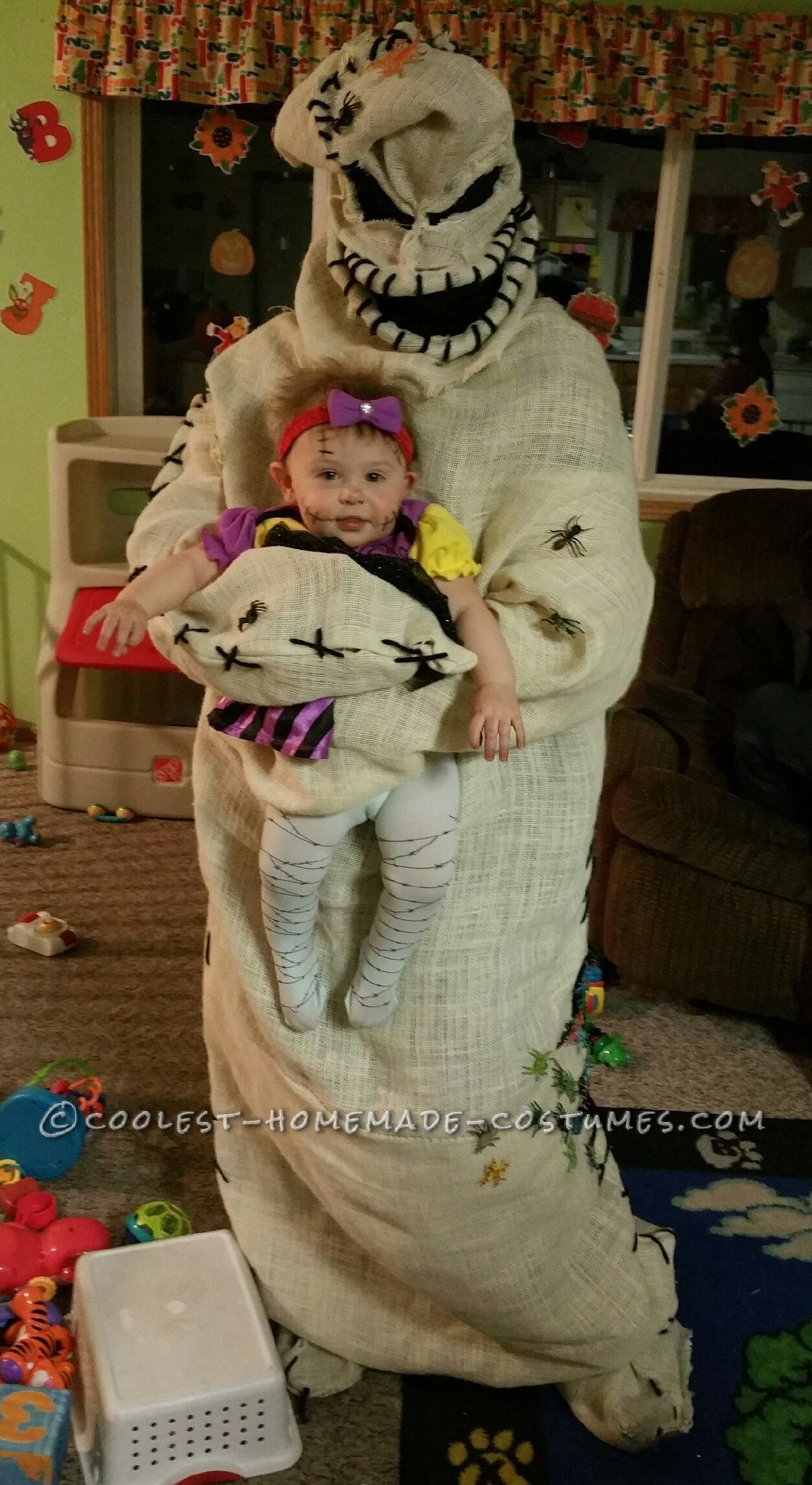 Coolest Oogie Boogie Costume and Baby Sally Doll ...