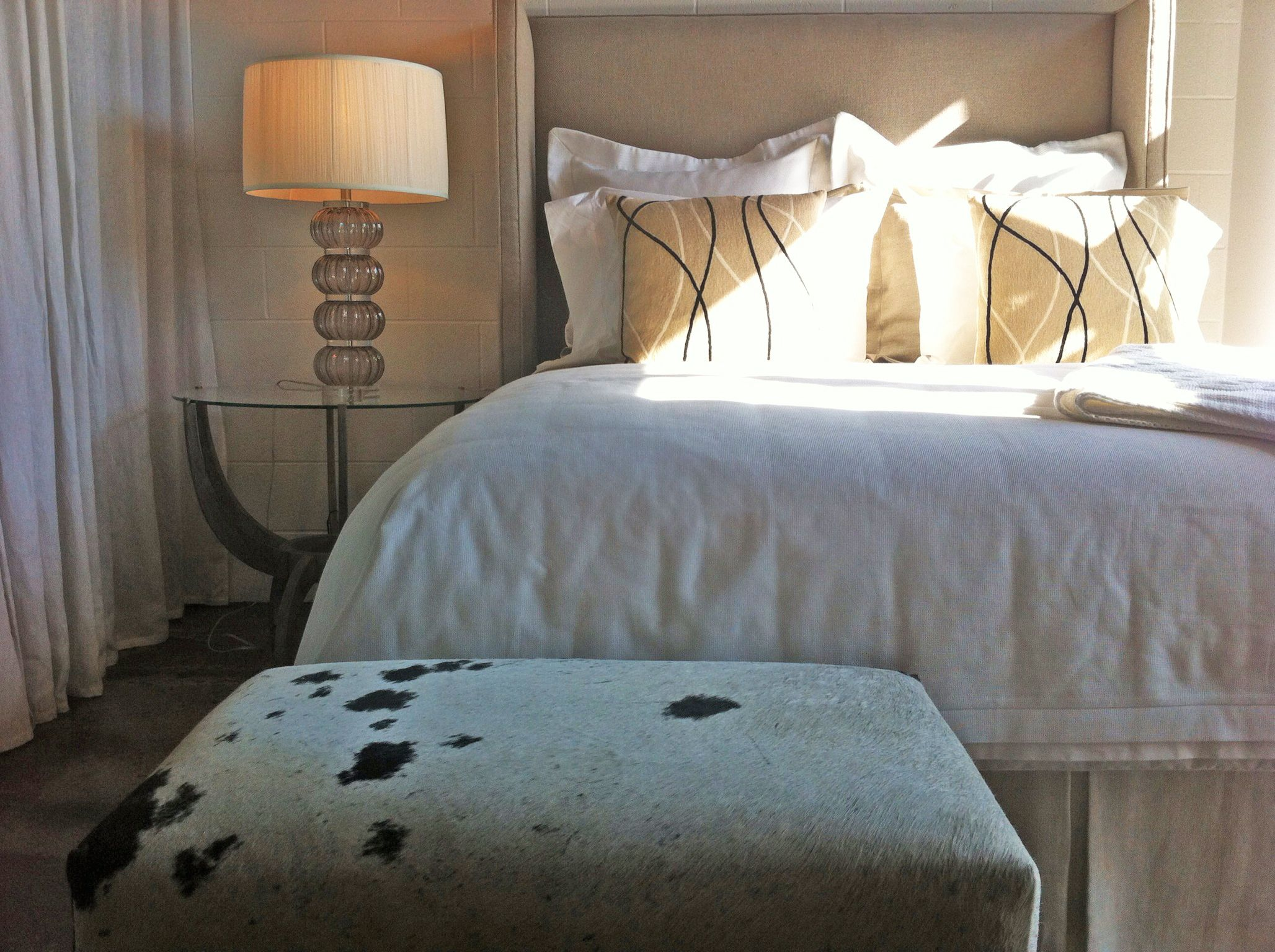 a fresh take on our Gigi bed for summer. A clean look from our Design Studio. 1403 Slocum St. Dallas TX.