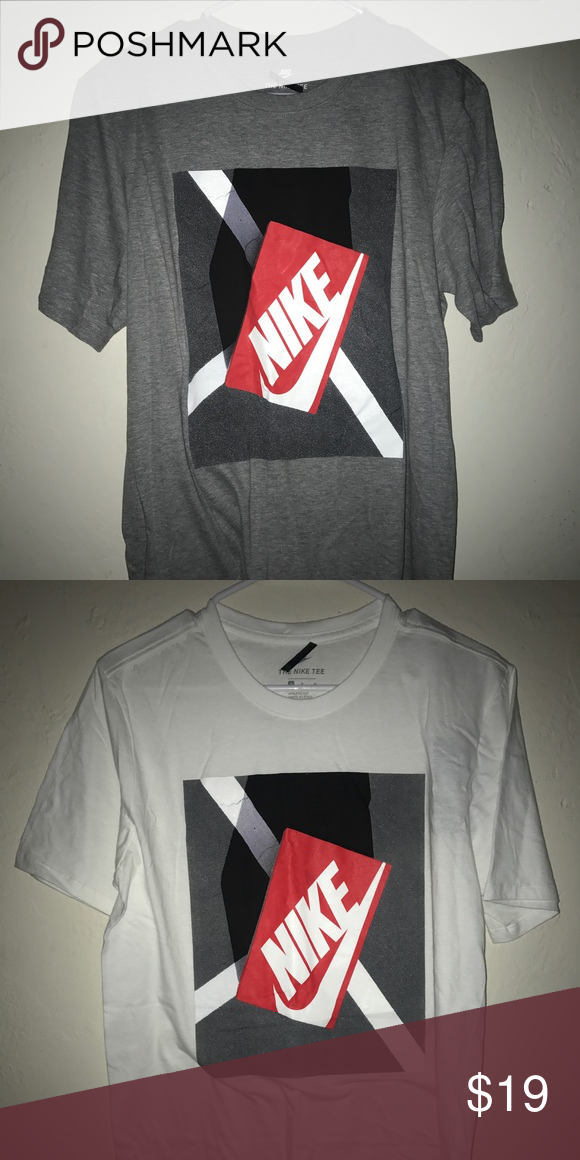 529499239aa3 Nike Shoe Box Shirt Men Size M Nike Tee New with tags! Size Medium in Men!  Grey and white available! Retail is 25  19  Each! Nike Shirts Tees - Short  Sleeve
