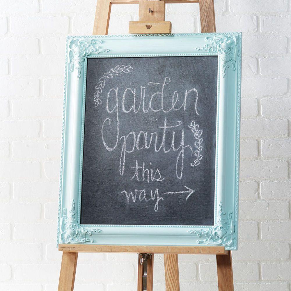 Garden Party: Framed Chalkboard Sign | Crafts | Pinterest | Framed ...