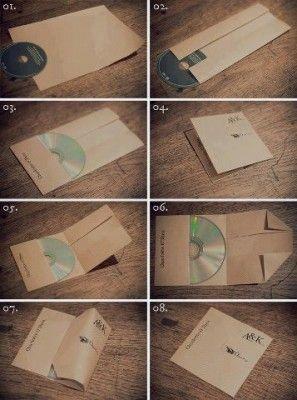 cr er une pochette cd avec une feuille de papier animation. Black Bedroom Furniture Sets. Home Design Ideas
