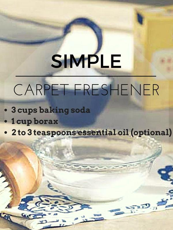 how to freshen carpet naturally