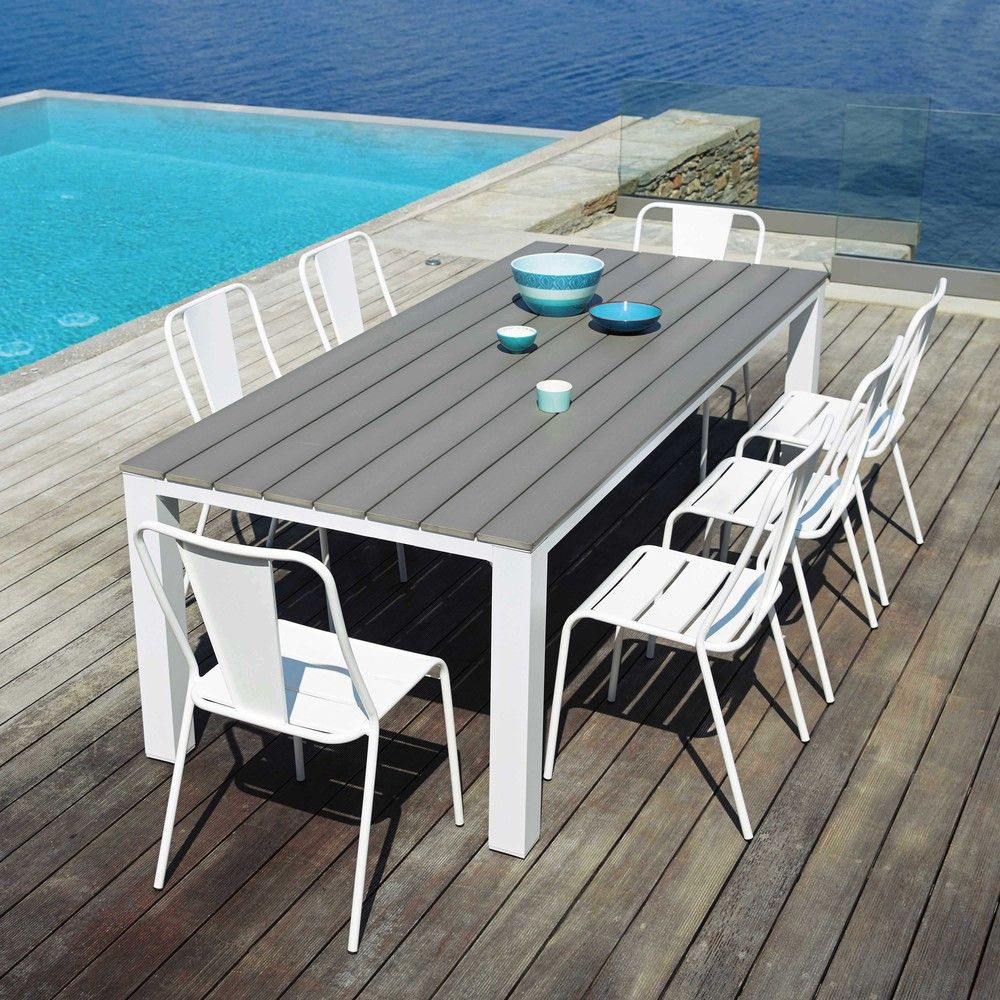 Garden Table 8 10 Persons In Aluminium And Composite W230 In 2020