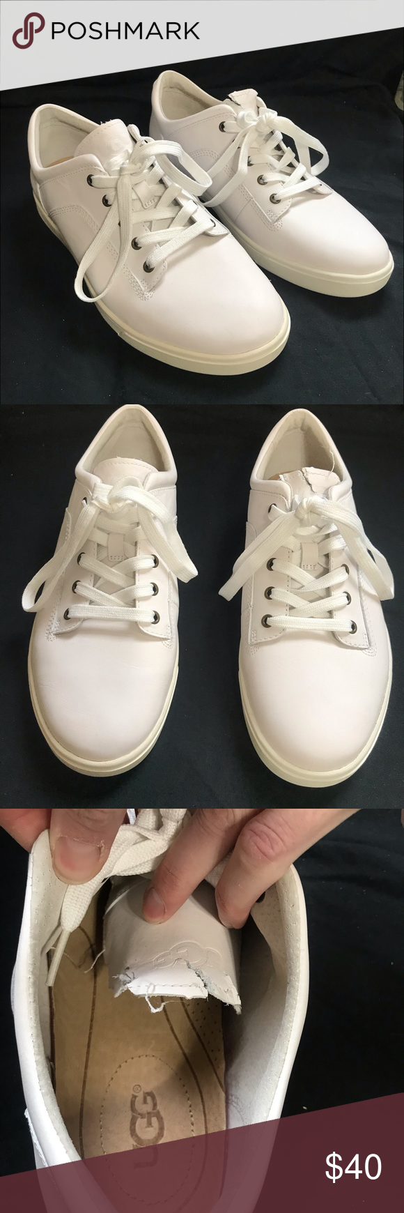 UGG Men's White Tennis Shoe size 9.5
