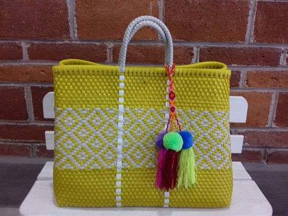 1a0bb93f56 TWO handwoven bags made with plastic in Mexico. WHOLESALE TOO!! Check sending  cost on description. P