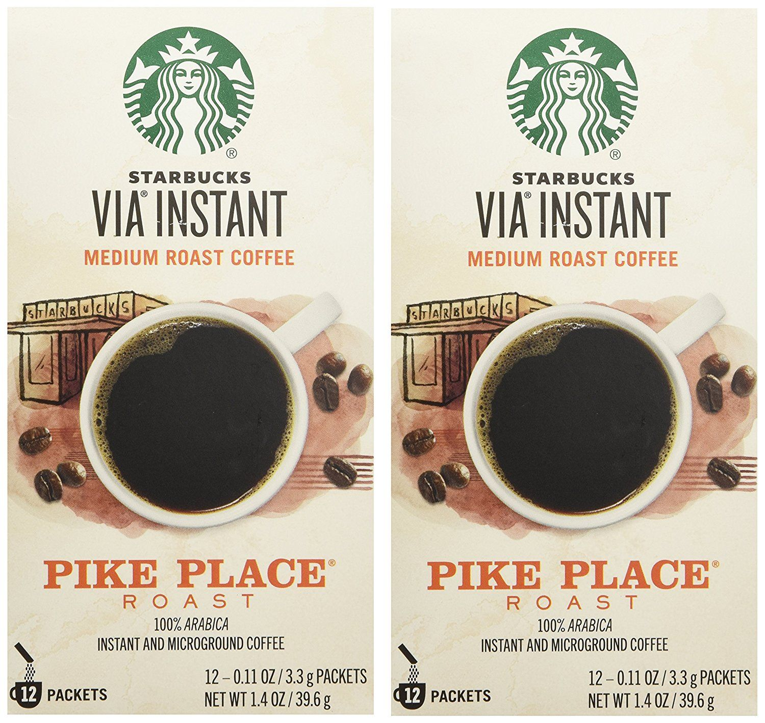 new images of brand new latest Starbucks VIA Ready Brew Pike Place Roast Coffee 12 Count ...