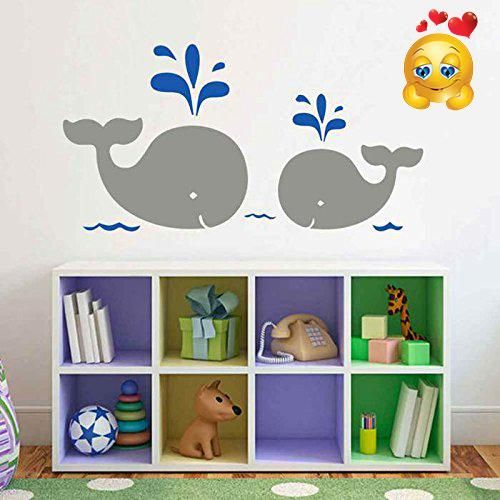 BATTOO Mom And Baby Whale Wall Decal For Nursery Whale Vinyl - How do i put up a wall sticker