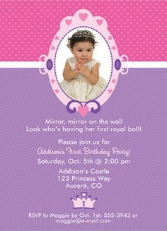 Handmade Frozen Birthday Invitations Google Search Birthday - 1st birthday invitations girl purple