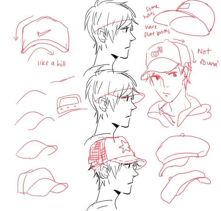 Comic Character Design Tutorial : How to draw a cap comics pinterest