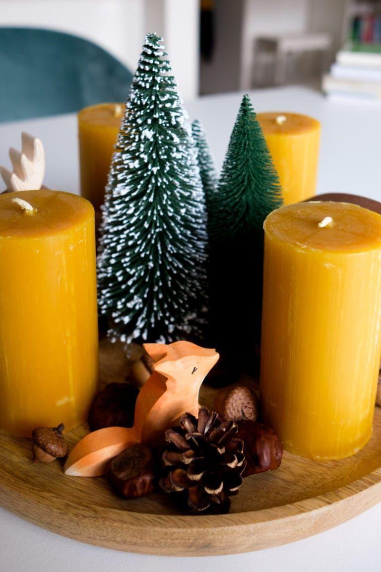 DIY #seasonsoftheyear DIY | Adventskranz mit Ostheimer Waldtieren & Bienenwachsk…