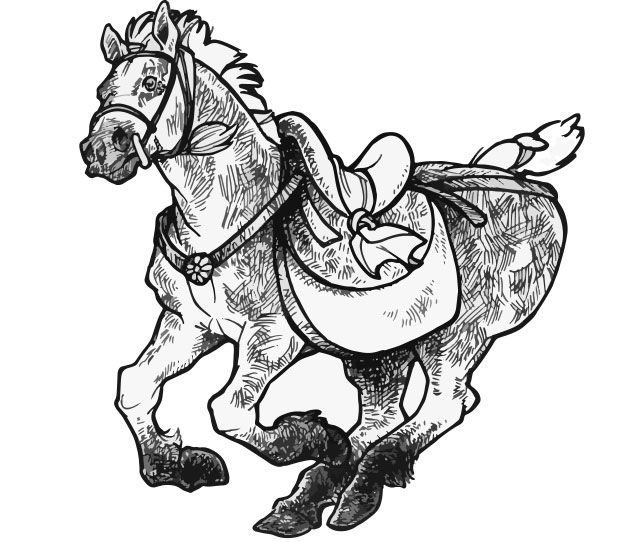How to draw historic Chinese horses. 4dogarts.com
