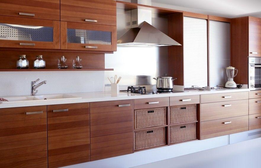 Moderne Holzküche Entwurf