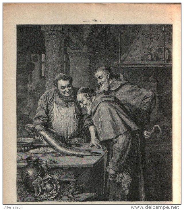 Gute Fastenspeise /  Druck, entnommen aus Zeitschrift / 1896