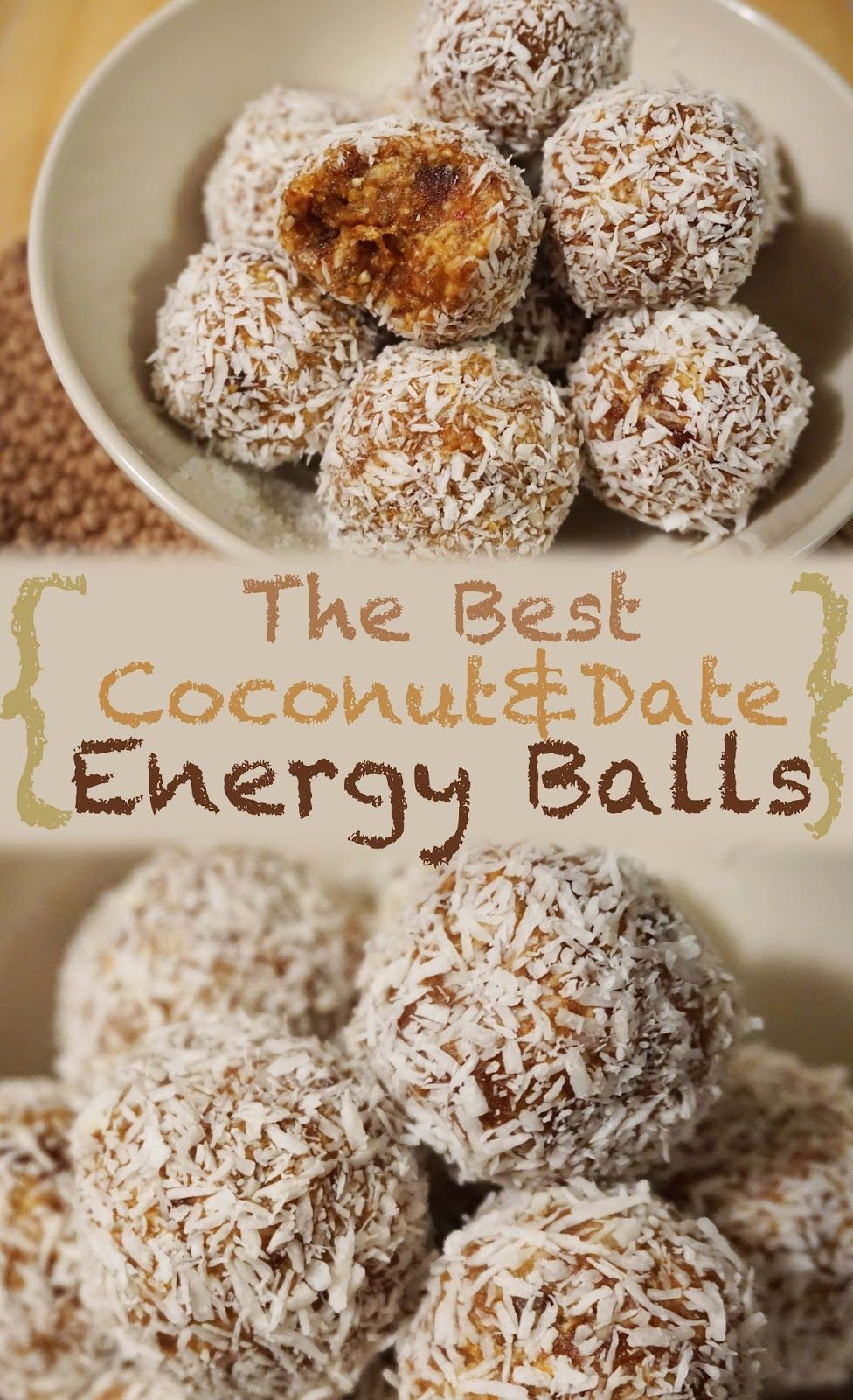 The Best Coconut Date oatmeal Energy Balls (raw vegan, gluten-free, processed sugar-free, low fat) with really little ingredients. No-bake! Super easy and yummy.