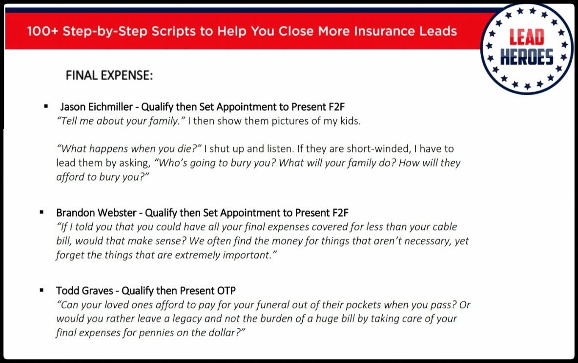 100 Insurance Sales Scripts Ebook Grab Your Free Copy Today Insurance Sales What If Questions Script