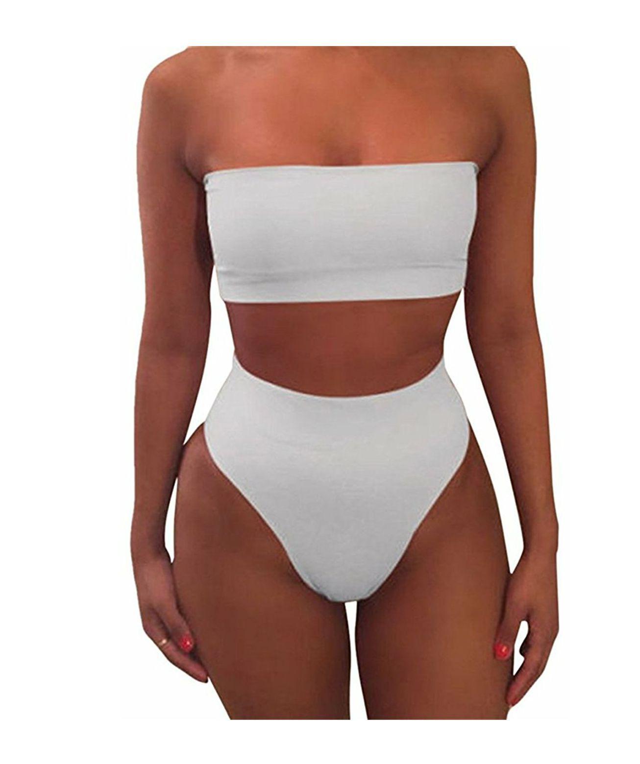 c23dffc2b0 Two Piece Tube Top Bikini | $*Clothes*$ | Bandeau bikini set ...