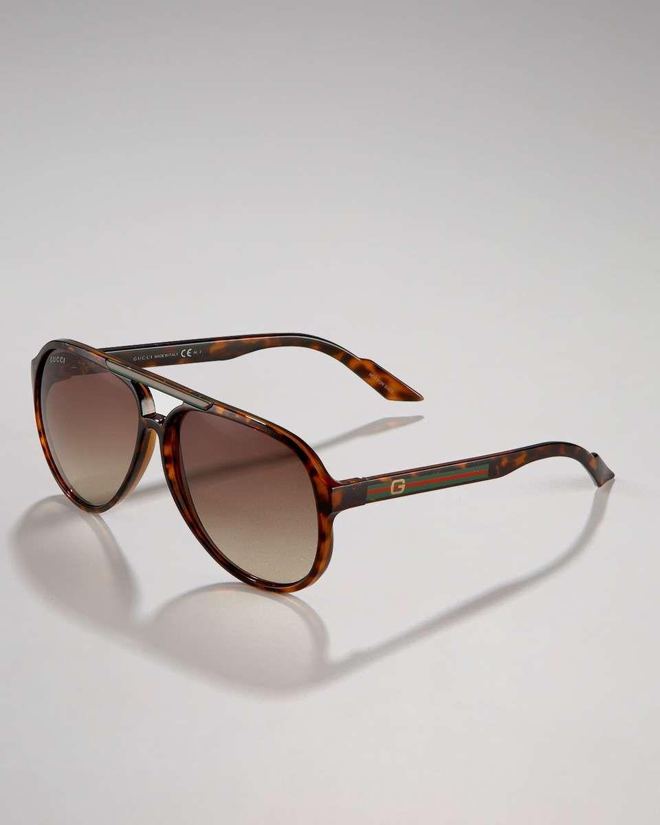 c6da197ee95 Gucci Rounded Plastic Sunglasses