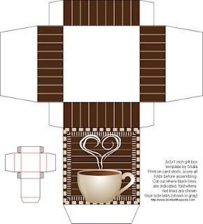 Free coffee style box printable