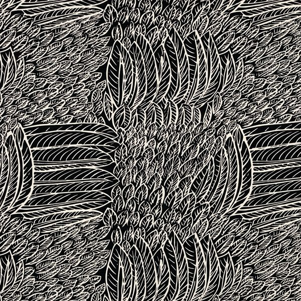 Featherfest | 176234 in Black | Schumacher Fabric |  A captivating plaid-like pattern of juxtaposed, stylized feathers. Inspired by a document in our archives and a favorite of Jacqueline Kennedy Onassis. Also available as a wallcovering.