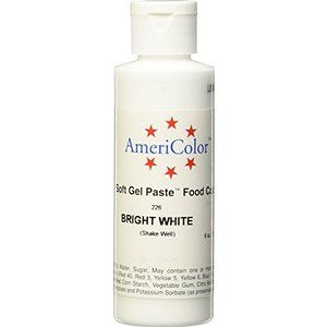 Americolor Soft Gel Paste Food Color, 6-Ounce, Bright White | inez ...