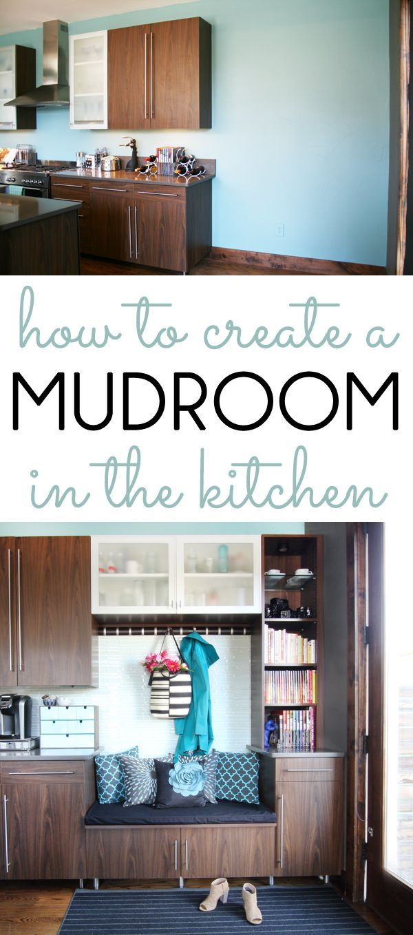 How To Create A Mudroom In The Kitchen An Empty Corner Of Was Transformed Into Functional With Bench Coat Hooks Cookbook Shelves