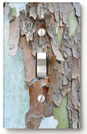 Tree Bark Custom Wall Switch Cover Zazzle Com Palm Tree