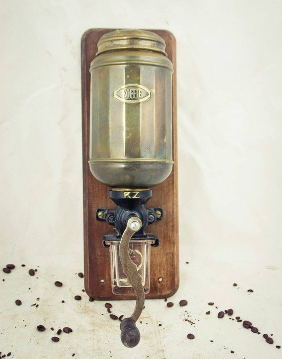 Vintage R Z Coffee Grinder Zassenhaus Wall Mount Mill