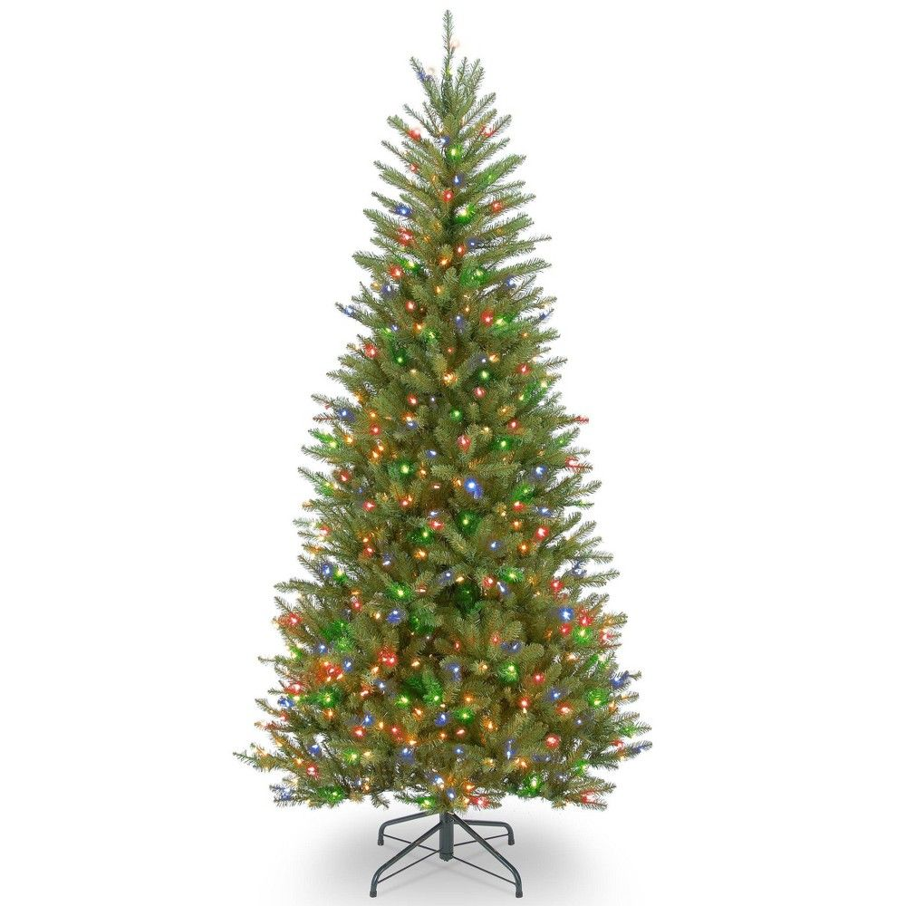 National Tree Company 7.5ft Dunhill Fir Artificial Tree 600ct Bulb Multicolored