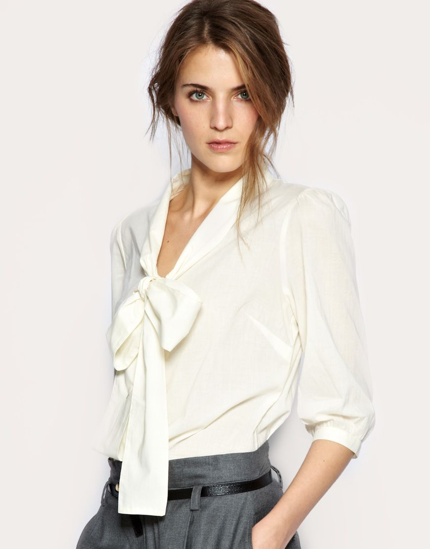 7073805bd6619a Tie Neck Blouses | Fashion II | Bow blouse, Blouse outfit, Bow tie ...