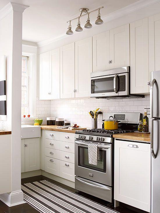 Small Apartment Kitchen small white kitchens | small white kitchens, shaker style doors