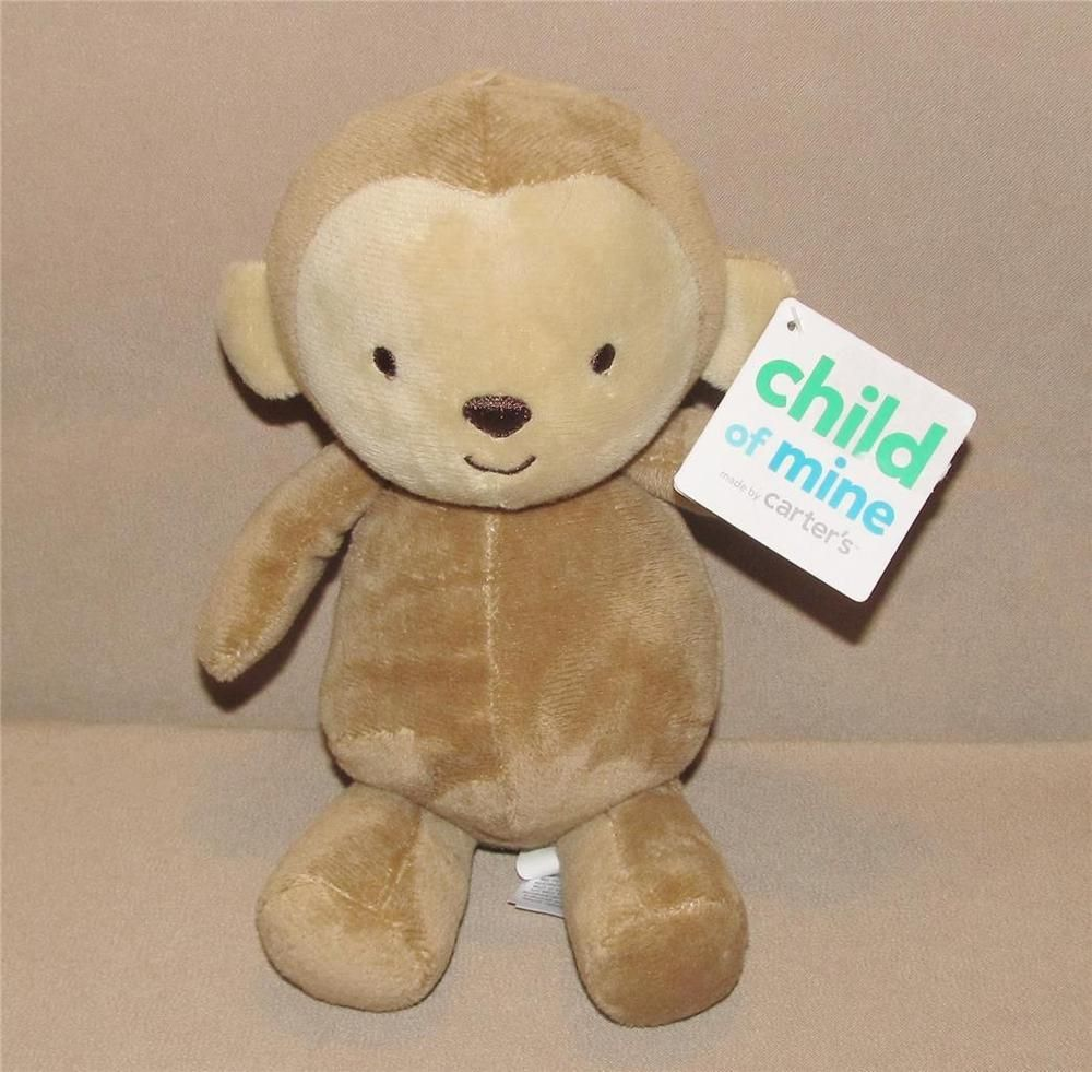 Child Of Mine Brown Tan Cream Monkey Plush 8 Quot Toy Rattle