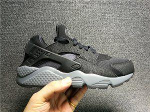 1d1c44bde1e5 Mens Womens Nike Air Huarache Black Dark Grey 318429 010 Running Shoes