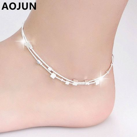 2017 Hot Silver Anklet Fashion Anklets For Women Ankle Bracelets Barefoot Sandals  Female Girl Leg Chain Foot Jewelry   Price   8.99   FREE Shipping ... 83575b3f9d31